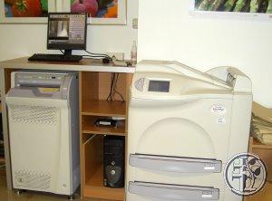 Skelettarbeitsplatz mit hochauflösendem digitalem Speicherfoliensystem (Fuji)