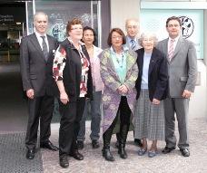 von links: Martin Ködding, Gertrud Kampen, Pia Paul, Heike Reis, Dieter Gobrecht, Elfriede Liers, Dr.Karl-Ernst Schmidt
